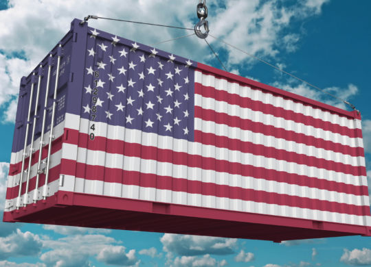 Container,With,Flag,Of,The,United,States,Of,America.,American